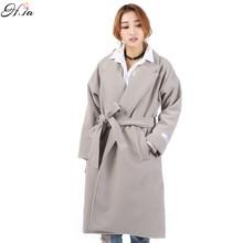 2017 Women Spring Winter Coats Jackets Thick Long Poncho Coats Belt Oversized High Quality Winter Quilt Long Coat Manteau Femme(China (Mainland))