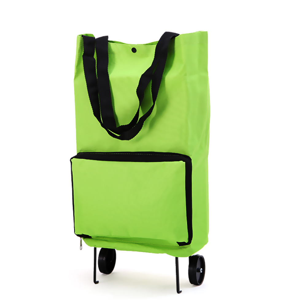 Portable Trolley Travel Bags with Wheels Hand Luggage Women Large Capacity Bag Folding Supermarket Shopping Cart Trolley Package(China (Mainland))
