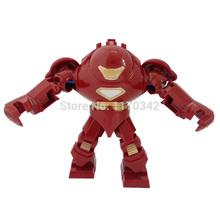 Iron man Hulk Buster Figure Toys Marvel Super Hero The Avengers Classic Building Blocks Sets Model