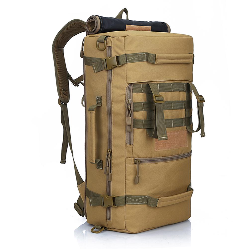 2015 New Military Tactical Backpack Hiking Camping Daypack Shoulder Bag Men's hiking Rucksack back pack mochila feminina 50L(China (Mainland))
