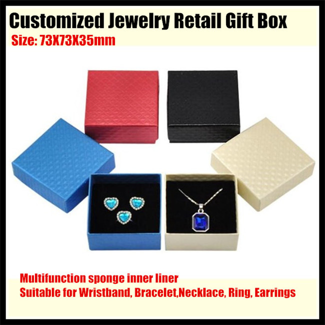 40sets!Customized Jewelry Retail Box (Paperboard Gift Boxes+sponge liner) for Bracelet,Necklace,Ring,Earrings Packaging&Display(China (Mainland))