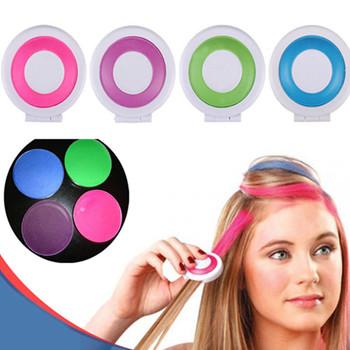 1 компл. 4 цветов краска для волос мучнистой cakeTemporary волос порошком мела Dye ...