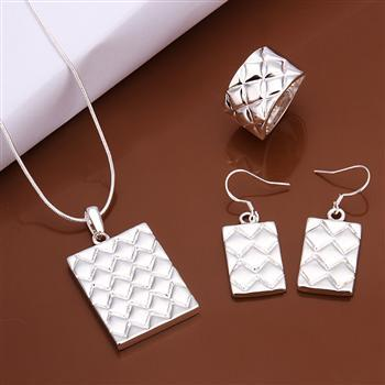 2016 Lose Money Promotion Hot Classic Square Jewelry Sets Party Women Necklaces Earrings Rings - LOVE SOUND OfficiaI Store store