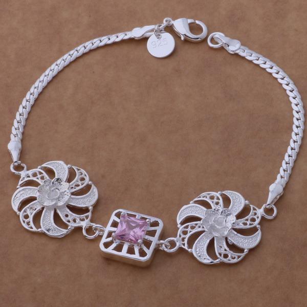 Beautiful fashion 925 sterling silver charm Bracelet Gorgeous jewelry well made windmill /ascajjja bgoajxva AH205(China (Mainland))