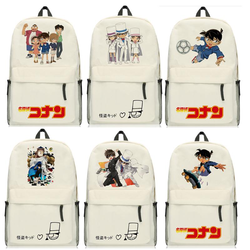 High-Q Detective Conan Case Closed backpack preppy student cartoon Kaitou Kiddo KID Kuroba Kaito backpacks bags schoolbag(China (Mainland))