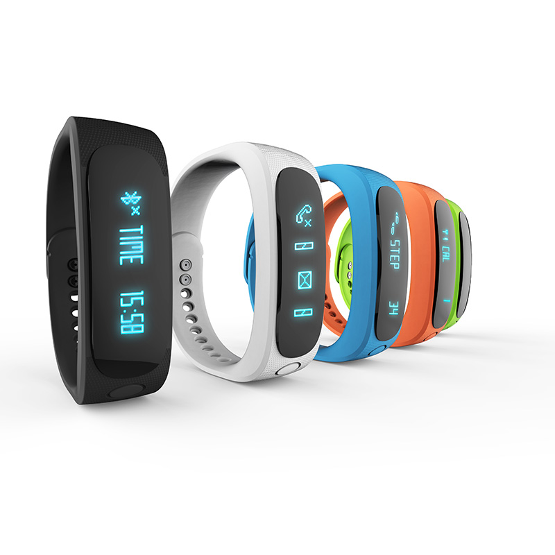 E02 Fashion Bluetooth Smart Bracelet Anti-Lost Sports/Sleep Monitor Call/SMS Remind Smartband Watch For Android Phone iPhone(China (Mainland))