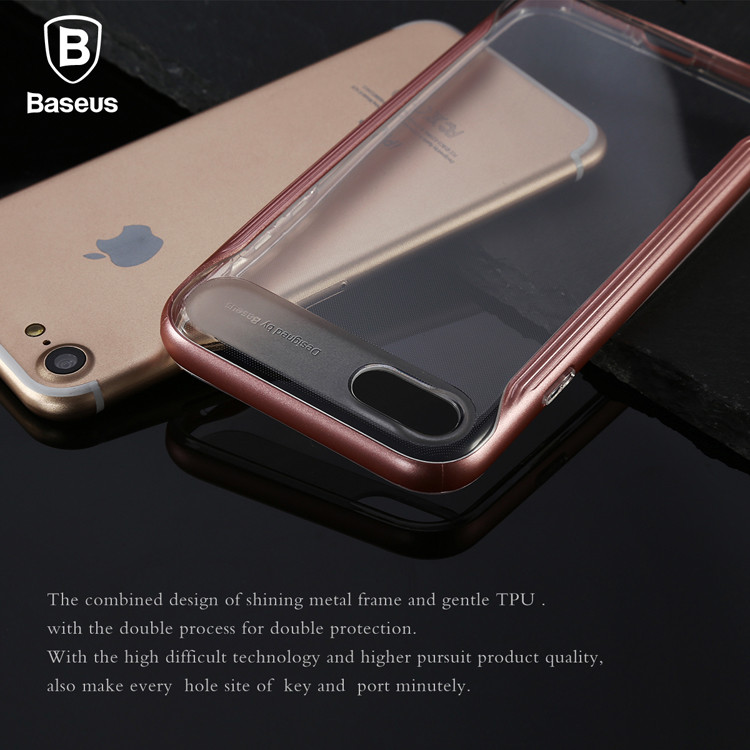 Case For iPhone 7 7 Plus Baseus Fusion Series PC+TPU Case Double Protection Back Cover For iPhone 7/7 Plus