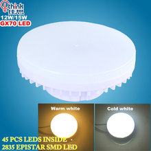 Buy gx70 led lamp 12w 15w led light smd2835 led bulb ac 220v 240v warm white/cold white super bright spotlight bulb free for $5.50 in AliExpress store