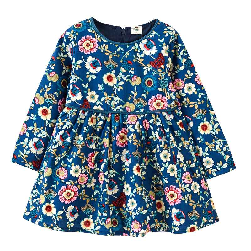 2-6Y VIDMID Girls dresses Children's clothing spring girls dress flowers long sleeve cotton princess party dress 2-6Y 1045 24(China (Mainland))
