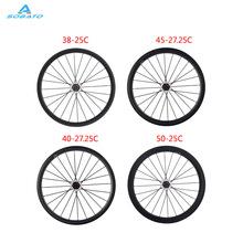 Buy 38mm 5mm 60mm 88mm clincher/tubular road bike carbon wheel basalt braking surface carbon wheelset 700C carbon road wheels for $389.00 in AliExpress store
