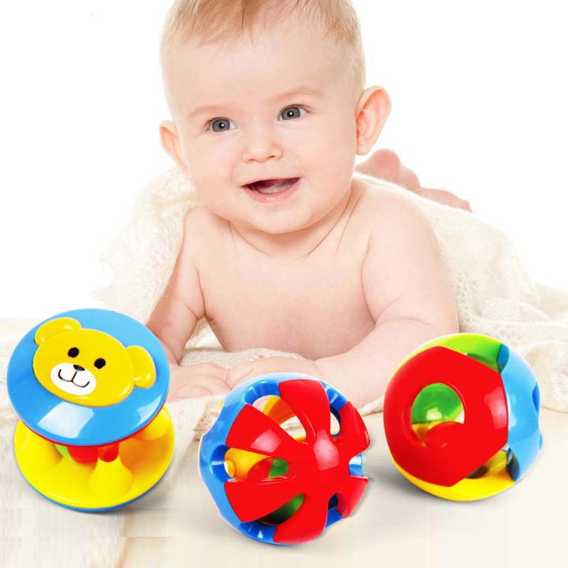Гаджет  New 0-6 Months Baby Toys 2Pcs /Set Musical Bell Early Educational Multifunctional Plastic Ball Rattles Gift For Infants Children None Игрушки и Хобби