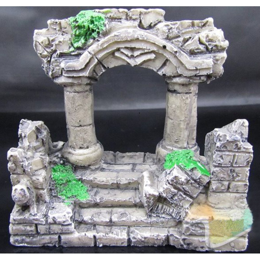 Fish tank decorations roman roman tower ruins 60 litre for Decoration aquarium 60 litres