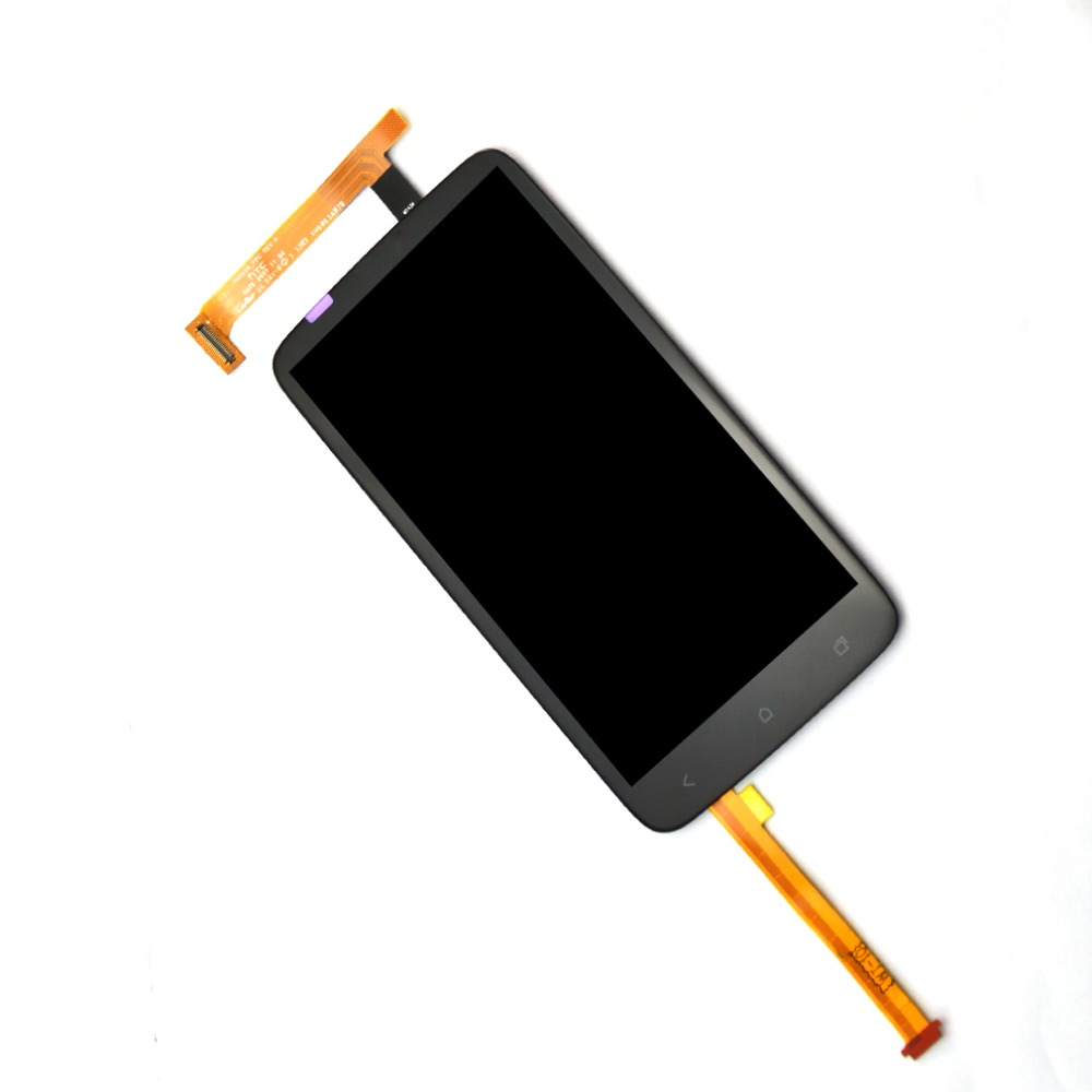 Black For HTC One X AT&T LCD touch screen display with digitizer Assembly , Free shipping !!!(China (Mainland))