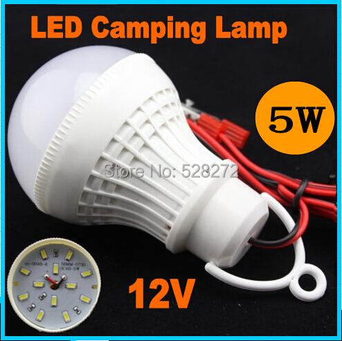 led camping lamp DC12V 3W5W7W9W12W 5730SMD LED Light Bulb,night fishing light,Battery lamp Warm white led hanging light lamp(China (Mainland))