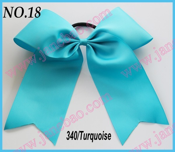 free shipping 2016 Newest 30pcs fashion 8'' Cheer leading Hair Bow mix color girl hair bow holders(China (Mainland))