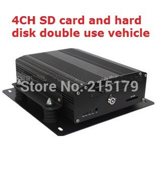 SD vehicle hard disk video recorder 4 channel Full D1 H.264 Car DVR Hard Disk Mobile DVR Video Recorder With Vehicle cctv dvr(China (Mainland))