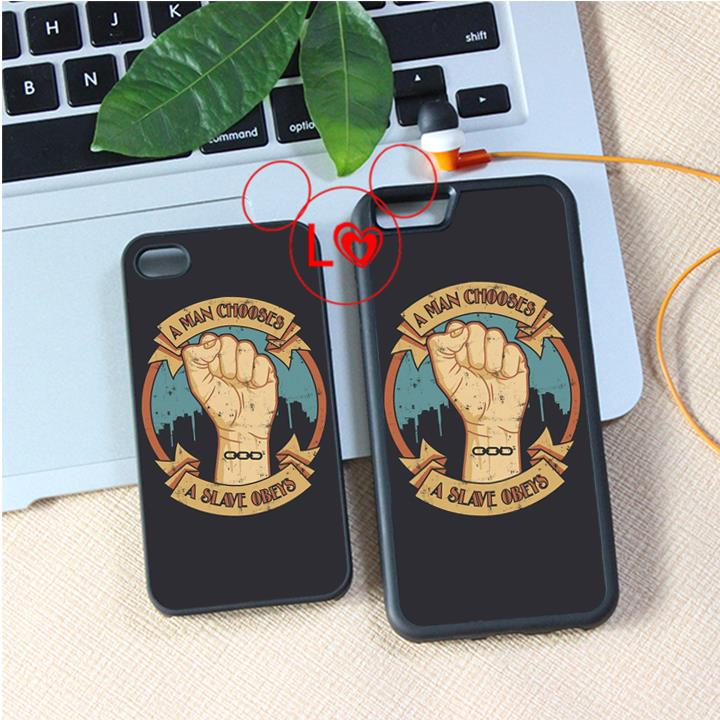 man chooses a slave obeys fashion cover case for iphone 4 4s 5 5s 5c SE 6 6s 6Plus & 6S plus #A1209(China (Mainland))