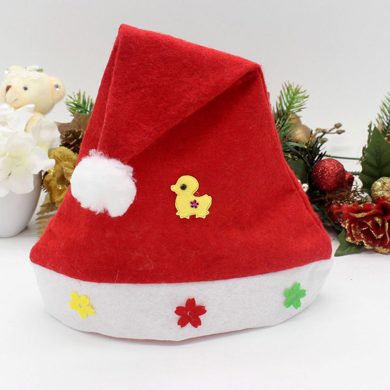 Christmas Hat Cartoon boys and girls children cap five-pointed star Christmas ornaments Christmas hats C14(China (Mainland))