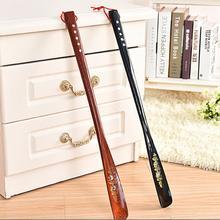 Ultra Long 55 cm Mahogany craft wenge Wooden Shoe Horn Professional Wooden Long Handle Shoe Horn Lifter Shoehorn Random Color (China (Mainland))