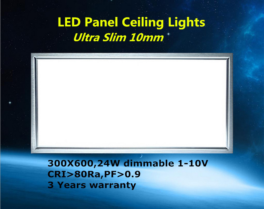flat led panel 300 600 24W led panel light 30x60 bathroom kitchen office light AC100-240v high brightness panel light(China (Mainland))