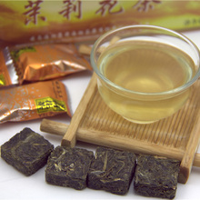 Premium 42 piecs Chinese Ripe Jasmine Flower Tea Flavor Square Shape Yunnan Original Natural Jasmine Pu