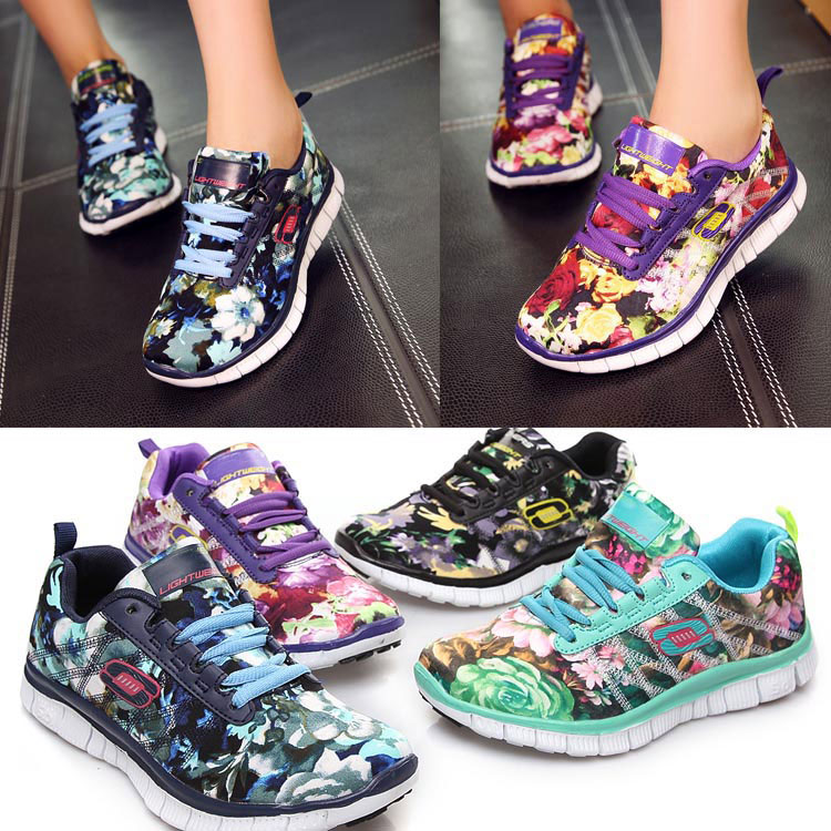 New Fashion Brand Women Sneakers Cheap Spring Flat Sport Shoes Blue Yellow Green Purple Free Run For Sale Good Seller flower on (China (Mainland))