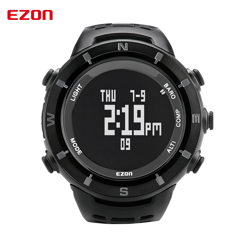 EZON Professional Outdoor Climbing Digital Watches Compass Barometer Altimeter Watch Sports Watches H001C01(China (Mainland))