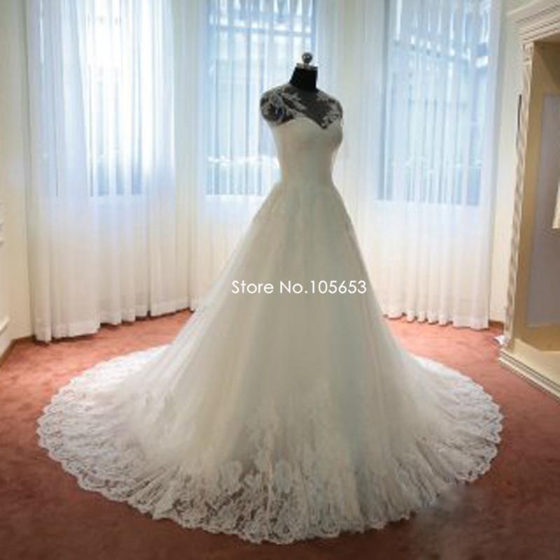Short wedding dresses long trains promotion shop for for Short wedding dress with long train