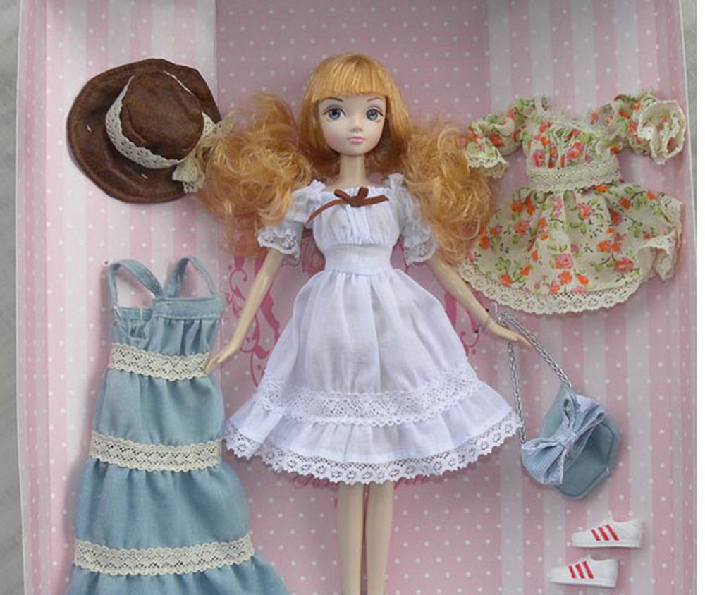 Genuine Kerr Bobbi Doll Fashion Girl series cowboy style pastoral toys 32(China (Mainland))