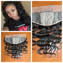 100% virgin hair ear to ear silk base Frontal closure water wave with baby hair,can be dyed and bleached konts free shipping(China (Mainland))