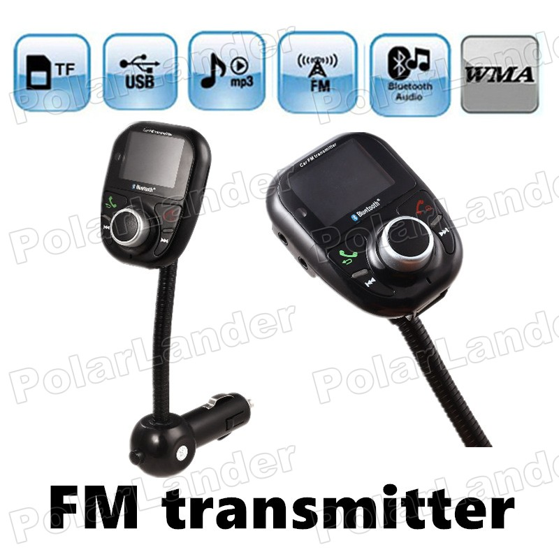Wireless FM Modulator LCD Display USB charger Bluetooth handsfree FM Transmitter for TF card U disk music player Car MP3 Player(China (Mainland))