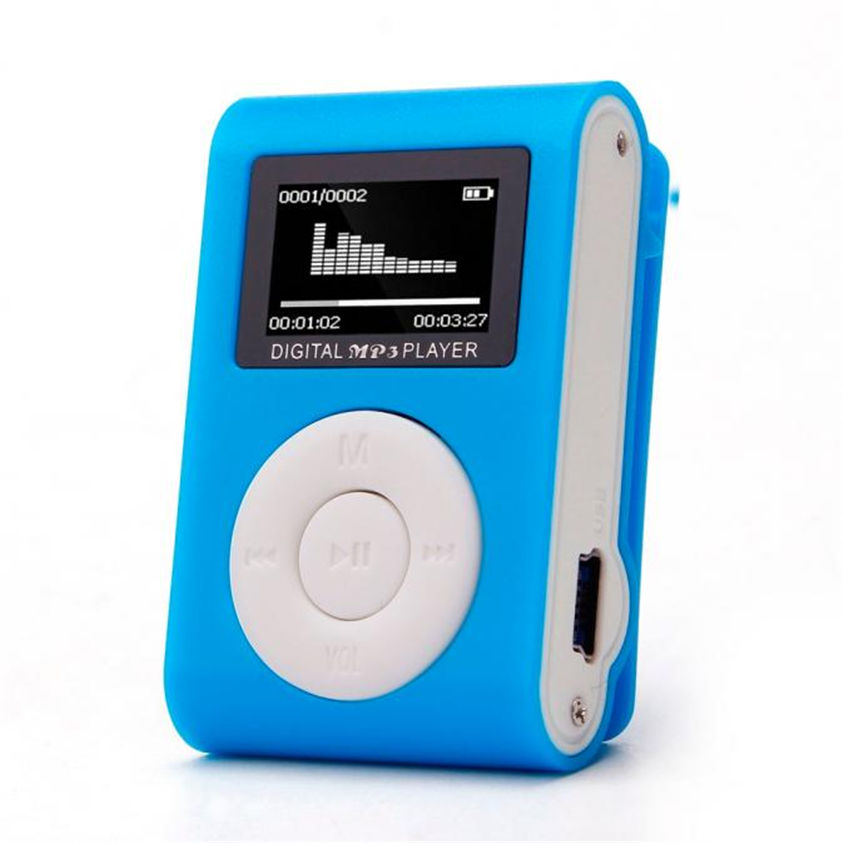 HL Mini USB Clip MP3 Player LCD Screen Support 32GB Micro SD TF Card Mar24