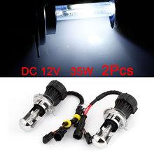 2 Pcs/lot 8000K H4 HID Xenon H L Beam Front Lights Bulbs Harness(China (Mainland))