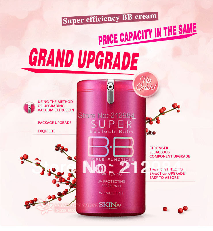 Red drum &Protect wet   & Block defect      BB cream     30g   Free shipping(China (Mainland))