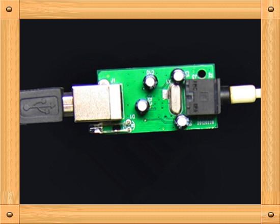 Free Shipping!!! USB sound decoder board / USB transfer SPDIF digital signal / band headphone output(China (Mainland))