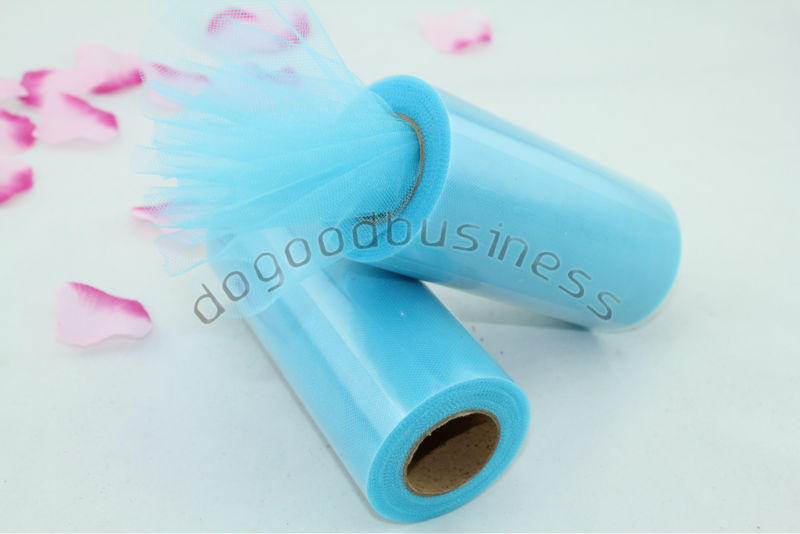 Turquoise Tulle Roll Spool 6 inchx25yd Tutu Wedding Gift Craft Party Bow Many Colors U Picks - dogoodbusiness store
