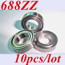 Free shipping 10pcs 688ZZ 688Z 688 ABEC-5 8*16*5 Miniature Ball Radial Deep Groove Ball Bearings(China (Mainland))
