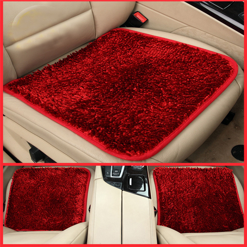 2017 Car-stylingHigh Quality Winter Warm Plush Anti Slip Car Seat Cushion Seat Cover Pad Mat Chair(China (Mainland))