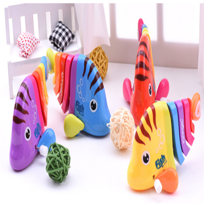 baby cartoon Wind Up Toys car Children creative toys Mini Colorful fish manufacturers wholesale Random colors(China (Mainland))