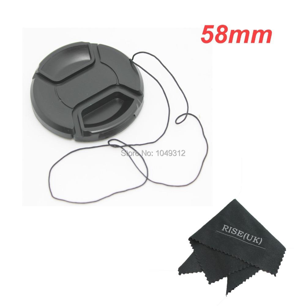Защитная крышка для объектива Pich 58 Nikon D7000 D5200 D5100 D3200 D3100 D9 макрокольца для nikon d3100 в иваново
