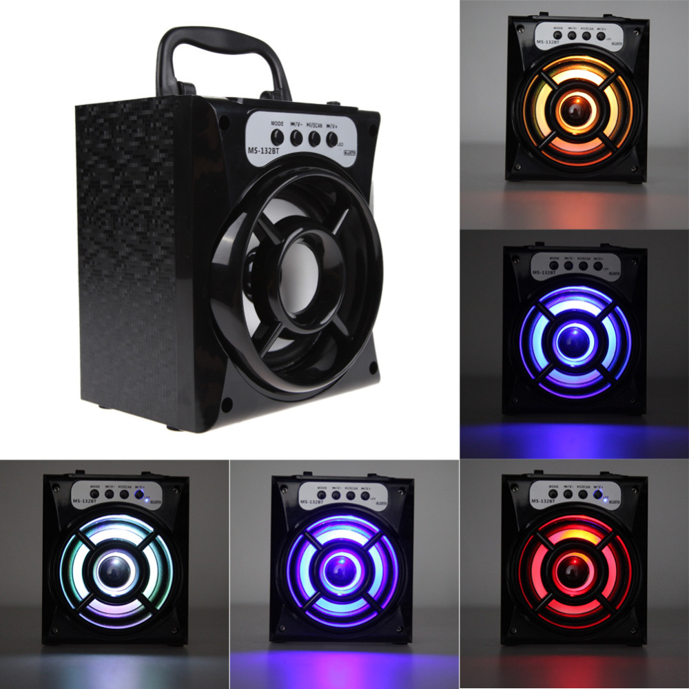 Newest Design Outdoor Bluetooth Portable Speaker 8W Super Bass Haut-Parleurs with USB/TF/AUX/FM Radio