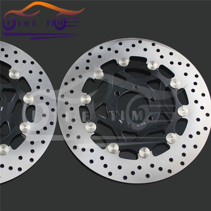 2  pieces motorcycle Front  Brake Discs Rotor for YAMAHA XJR400 1993 1994 1995 1996 1997 1998 1999 2000 2001 2002 2003 2004 2005