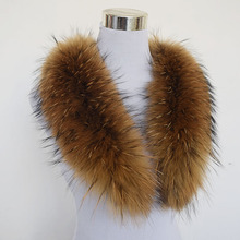 Natural 100% Raccoon Fur Collar 80cm Large Genuine Collar Fur Scarf Shawl for Winter Coats Clothing Accessories Real Raccoon Fur(China (Mainland))