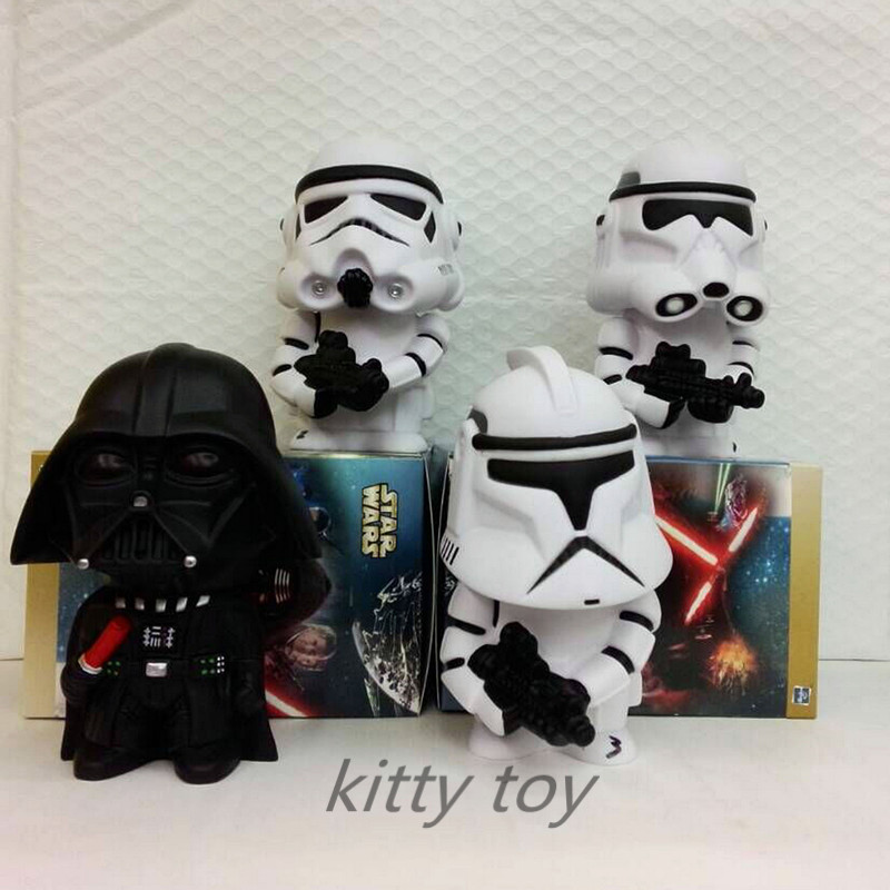 Movie Star Wars Darth Vader Piggy Bank Save Money Box PVC Action Figure Collectible Model Toy