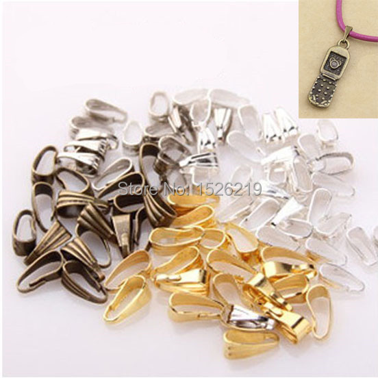 Wholesale  200pcs/lot pendant Clasp Pendant Connector bail beads Jewelry Finding 4*8mm F722(China (Mainland))