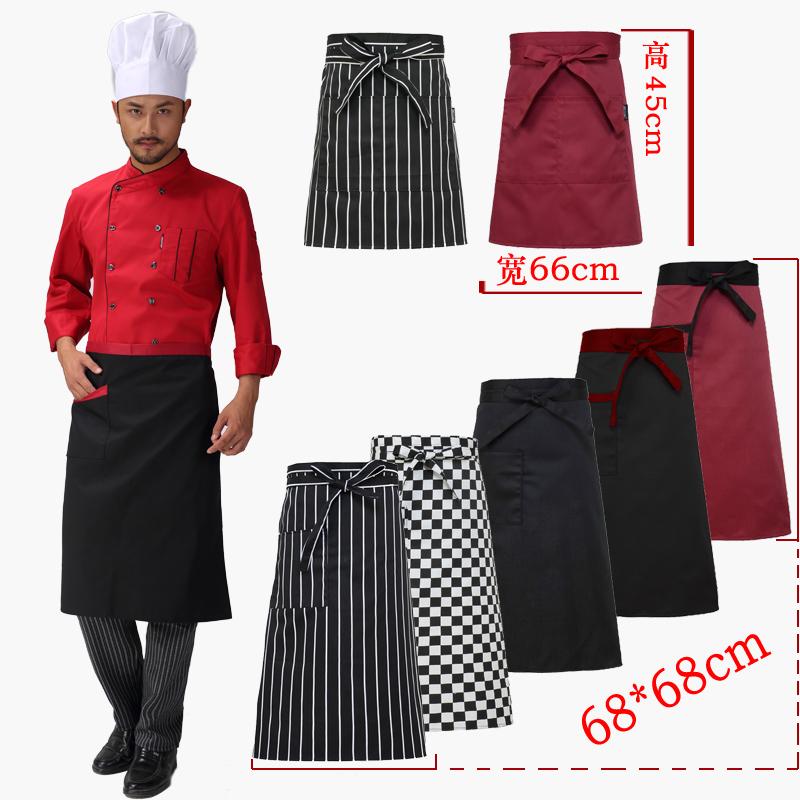 The Hotel Restaurant Kitchen Chef Apron Body Stripe Apron Custom Short Apron Male Chef Kitchen Accessories Beautiful Aprons(China (Mainland))