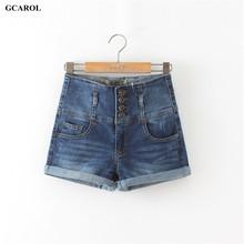 Buy Women 4 Button High Waist Denim Shorts Ladies Sexy Cuff Shorts Hip denim Jeans Plus Size 42 Summer Spring Autumn for $14.24 in AliExpress store