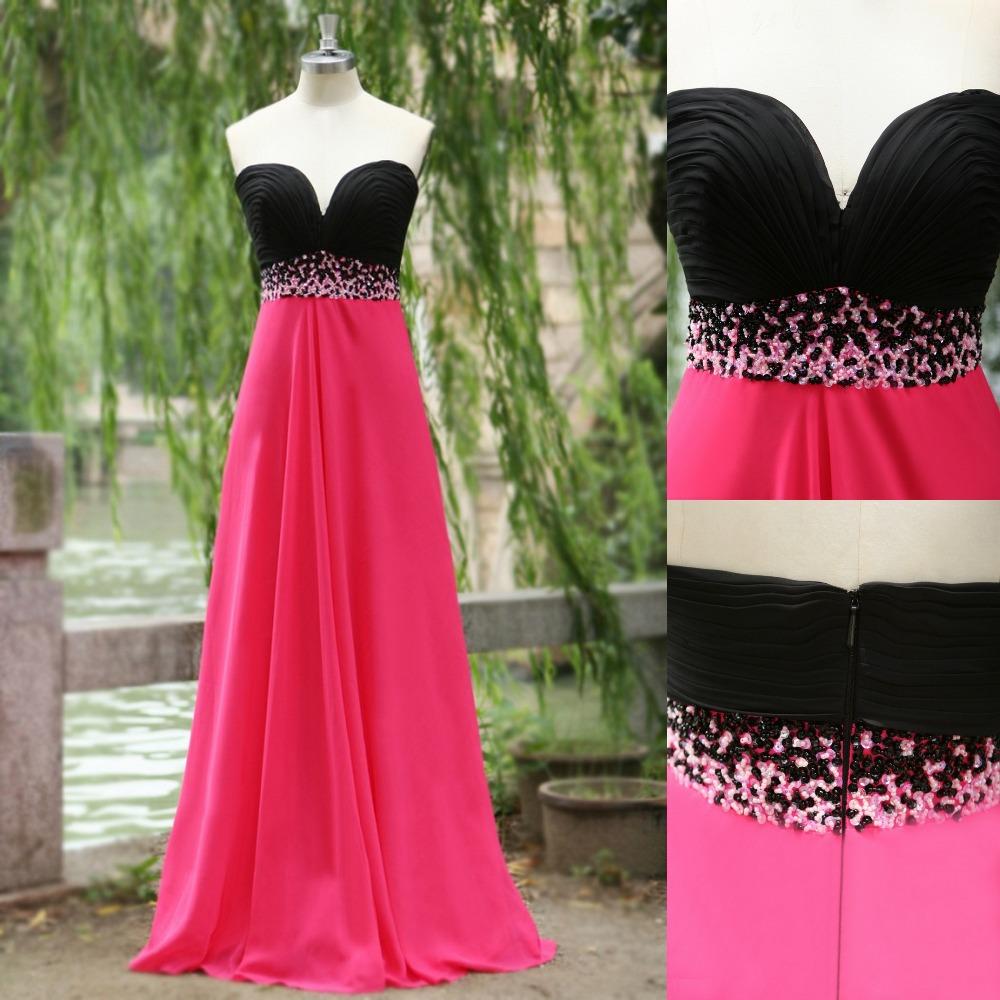 Pink And Black Flower Girl Dresses