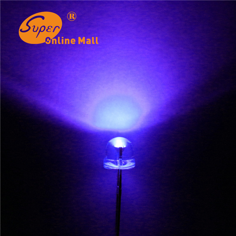 1000 pcs led 5mm straw hat uv/purple leds Light Emitting Diodes (4.8mm) Water Clear ultra bright Wide Angle LED 1000 pcs/lot(China (Mainland))