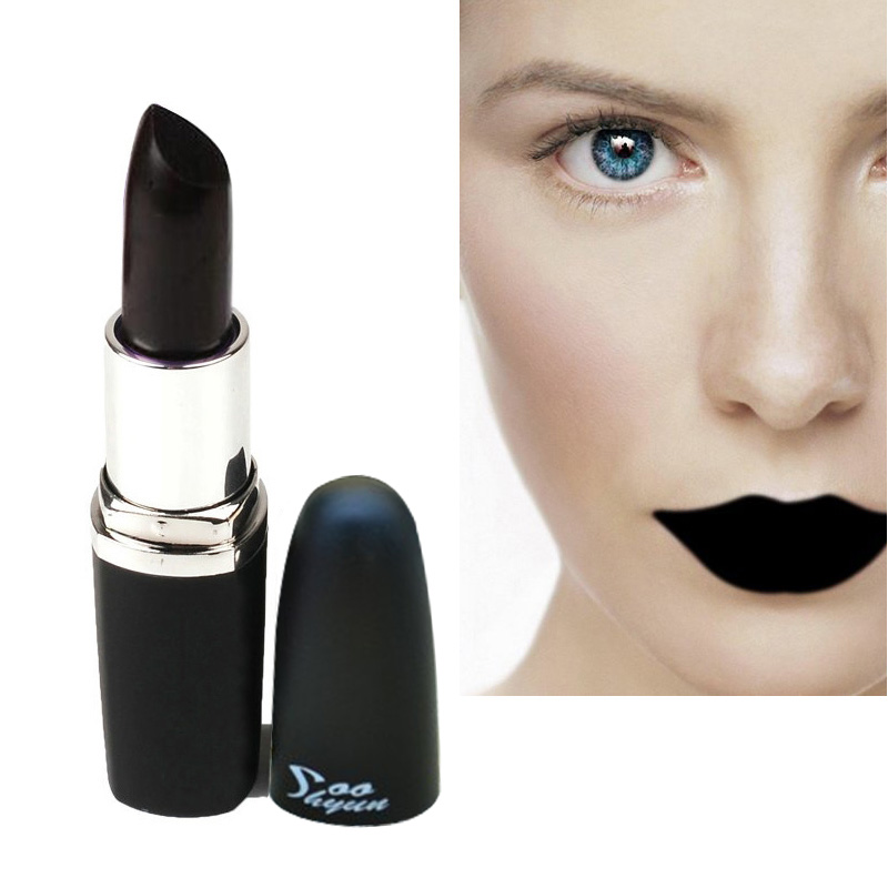 freeshipping Special Color Waterproof Long Lasting Lip Gloss Vampire Style Makeup Purple Gold Black Red Lipstick Matte Lip Stick(China (Mainland))